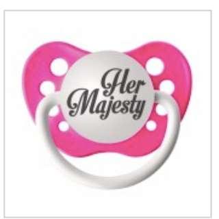 Ulubulu Pacifier | Hot Pink HER MAJESTY