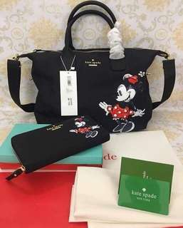 Kate spade bag w/wallet (minnie mouse)