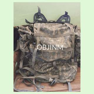 [Preloved] Camouflage Military / Camping / Hiking Bag with Frame ❣️REPRICED❣️