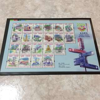 "2004Hong Kong Stamp Expo ""Tourism"" Picture book and stamps"