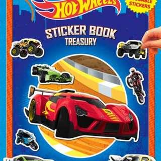 Mainan Mobil Mobilan STICKER BOOK TREASURY HOT WHEELS WITH OVER 350 REUSABLE STICKER