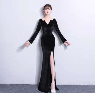 New Elegant dignified atmosphere fishtail Evening Dress