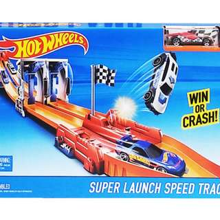 Mainan Mobil Mobilan HOT WHEELS SUPER LAUNCH SPEED TRACK - BGJ26