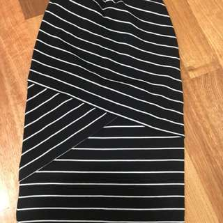 Stripe skirt XS