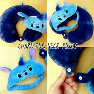 Character Neck Pillow With Eyemask