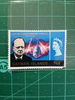 [贈品]1966 開曼群島 邱吉爾紀念 新票一枚