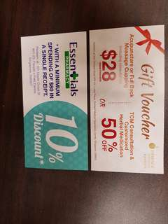 Free Gift voucher for TCM clinic & pharmacy