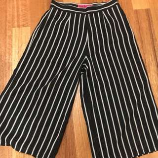 Stripe pants / culottes