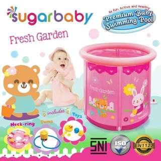 Kolam Renang Bayi SUGAR BABY PREMIUM SWIMMING POOL PINK/BLUE