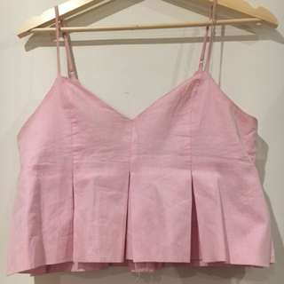 Dusky pink crop top