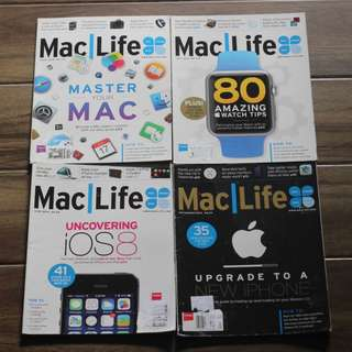 Assorted Apple Product Magazines
