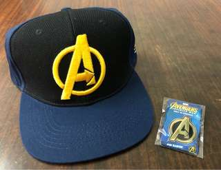Marvel Avengers Infinity War Boutique Logo Cap and Pin Badge《復仇者聯盟3:無限之戰》禮物套裝(帽子及襟章) Hottoys Yondu