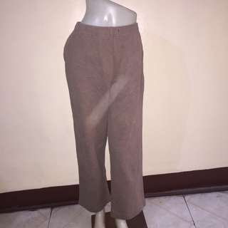 KAREN SCOTT brown plus size gartered zumba/jogging/sweat pants medium fits xl