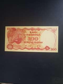 1984 BANk lNDONESIA$100 QCL 222222 UNC·
