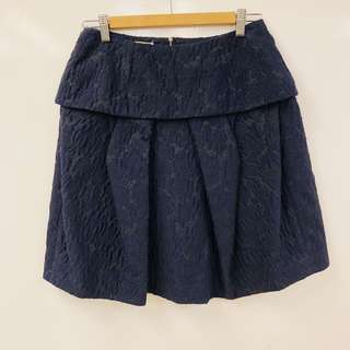 Marni navy dark blue with pattern skirt size 40