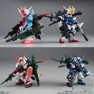 Bandai Online Shop Exclusive - Shokugan - FW Gundam Converge: Core Perfect Strike Gundam/ Strike Rouge (IWSP) Set
