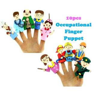 PROFESSION OCCUPATION FINGER LEARNING EDUCATIONAL PUPPET TOYS