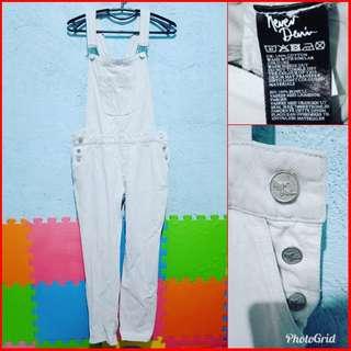Never Denim White Jumper Pants