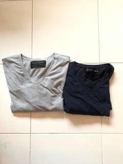 Zara essentials v neck t shirt