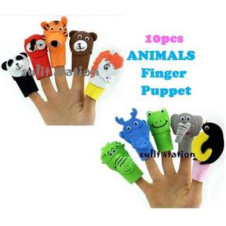 ANIMALS FINGER EDUCATIONAL LEARNING PUPPET TOYS