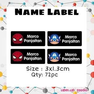 Customise name label/name sticker