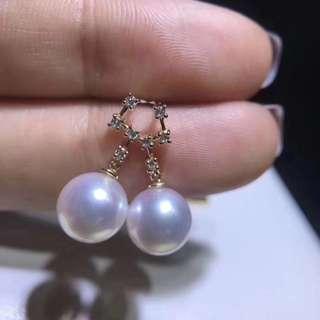 珍珠耳環 Akoya