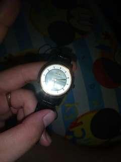 black silver watch