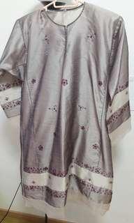 Baju Kurung Lilac grey in size M