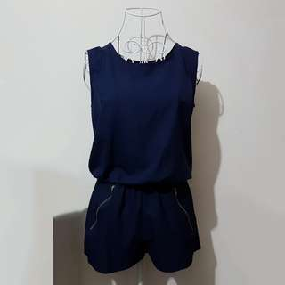 Keyhole Backless Blue Romper *INCLUSIVE OF NORMAL MAIL*