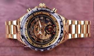 Full Gold Skeleton Watch for Men
