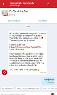 THANK YOU CAROUSELL FOR FEATURING MY STUFFS 😍😍👄