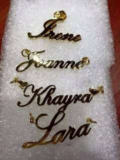 Personalized pendants