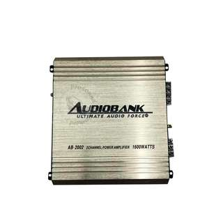 AUDIOBANK AB-2002 HIGH PERFORMANCE 2 CHANNEL POWER AMPLIFIER 1600WATTS