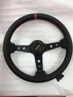 "Momo 14""Sport Steering (leather)"