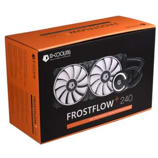 ID Cooling Frostflow+ 240 240MM frostflow ( Micro Fin Copper Base, 240mm Radiator, High Static Pressure Fan, High Pressure Pump, White LED, 2x120mm PWM Fan, AM4 Support) 3 yrs Local Warranty