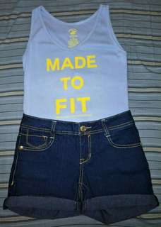 *authentic* BUNDLE 1 terno | shorts and tank top