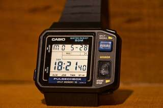 Casio JP-100W Pulse watch not seiko citizen timex
