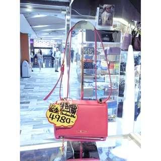 Givenchy Pink Leather Classic Pandora Box Mini Size Crossbody Shoulder Handbag Hand Bag 纪梵希 螢光粉紅色 桃紅色 牛皮 皮革 經典款 迷你 斜揹袋 斜背袋 肩袋 袋 手挽袋 手袋