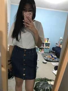 Uniqlo Denim Skirt