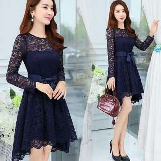🍃Elegant Asymmetric Lace Dress