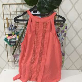 Pink Lace Top H&M