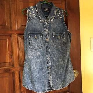 Fubu Denim Sleeveless Top