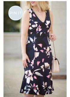#006 🌺U.s floral dress ( plus size )