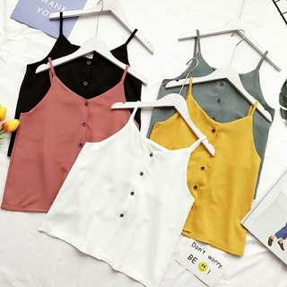 [PO] Buttoned Up Spag Top