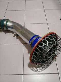 Mushroom air intake pipe ram