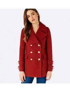 Forever New Burgundy Coat