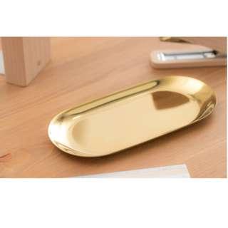 Elegant Plate For Stationaries and Accessories - 復古黃銅金屬色首飾文具收納盤 - B0024