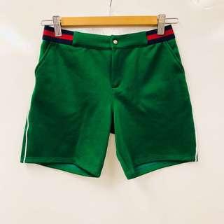 Gucci green shorts size 12