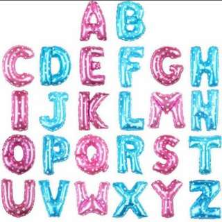 "Balloon Foil Alphabet 16"""