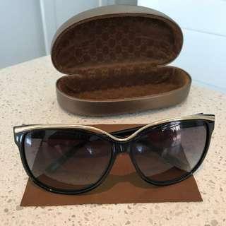 Gucci Gold Trim Sunglasses